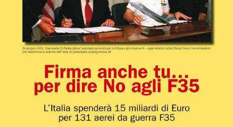 Firma anche tu per dire NO agli F35