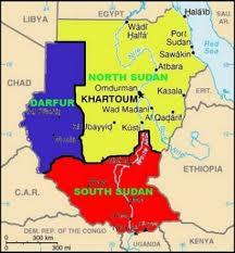 cartina del Sudan