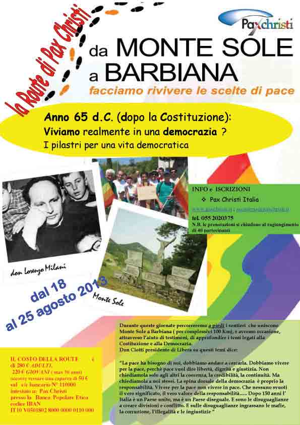 Route 2013 – Monte Sole-Barbiana