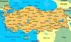 cartina della Turchia