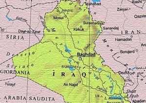 cartina dell'Iraq