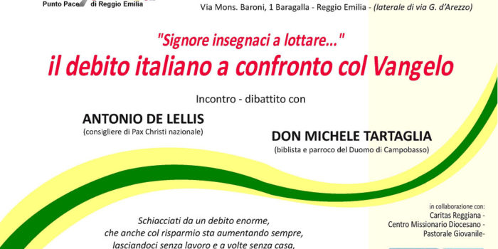 """""""Signore insegnaci a lottare"""" Il debito italiano a confronto con il Vangelo"""