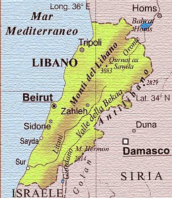 Cartina Libano E Israele.Onu In Libano Un Milione Di Siriani Paxchristi