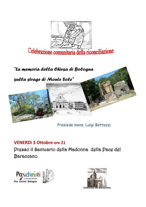 70° Anniversario del martirio delle comunità di Monte Sole