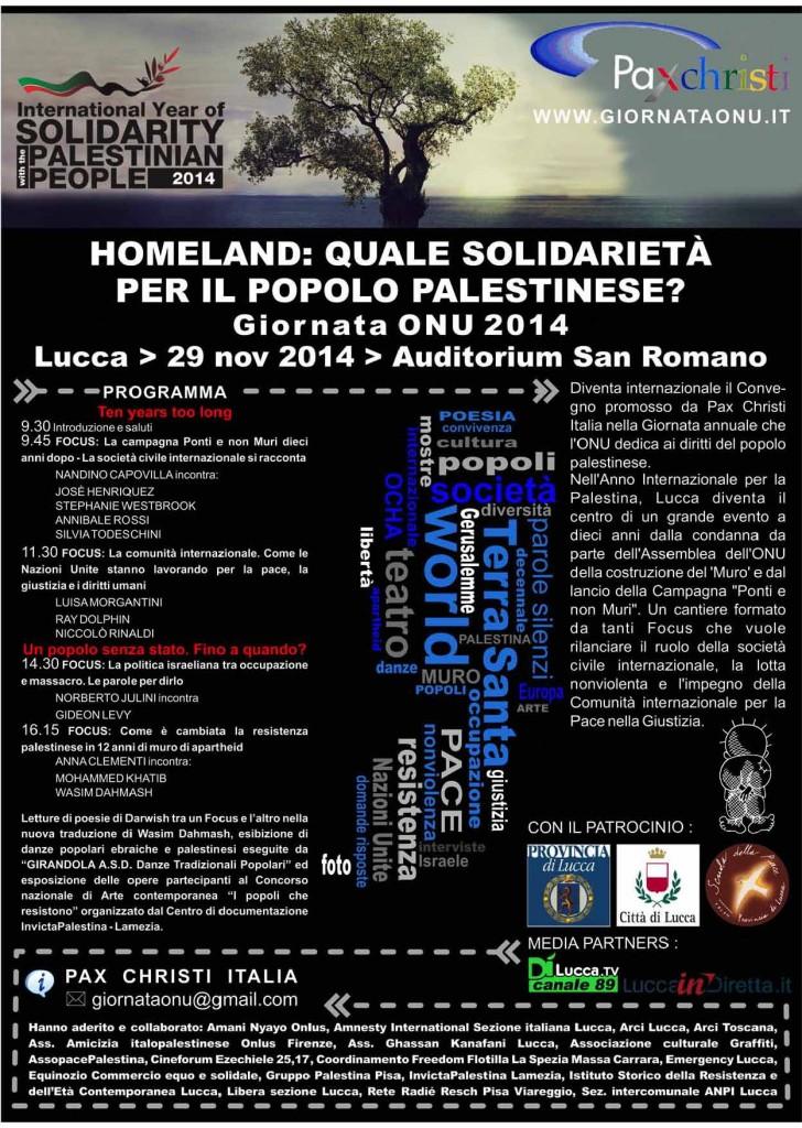 Ultima Locandina Lucca 29 Novembre 2014