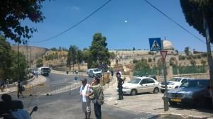 Venerdì di Ramadan_ Vista di Gerusalemme Blindata dal Getsemani