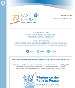 Pax Christi International newsletter