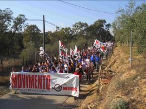 manifestazione NO MUOS a Niscemi