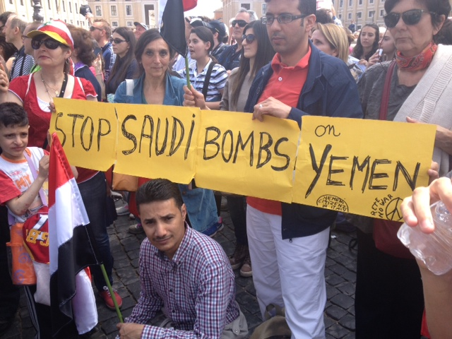 Stop alle bombe saudite sullo Yemen