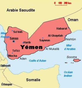 cartina dello Yemen