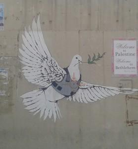 la colomba della pace nella Palestina occupata