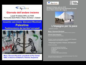 Visita di mons. Ricchiuti a Catania e a Ragusa