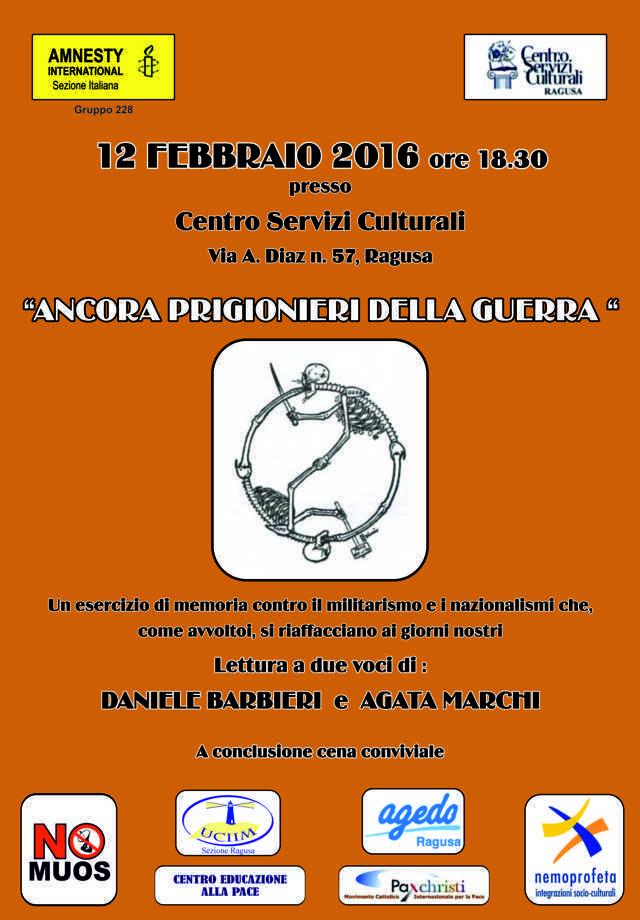 12 Febbraio, Ragusa – Ancora prigionieri della guerra