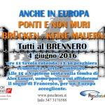 ANCHE IN EUROPA PONTI E NON MURI – BRENNERO 4 GIUGNO – IL PROGRAMMA