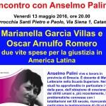 Incontro a Catania con Anselmo Palini su Marianella Garcìa e Oscar Romero