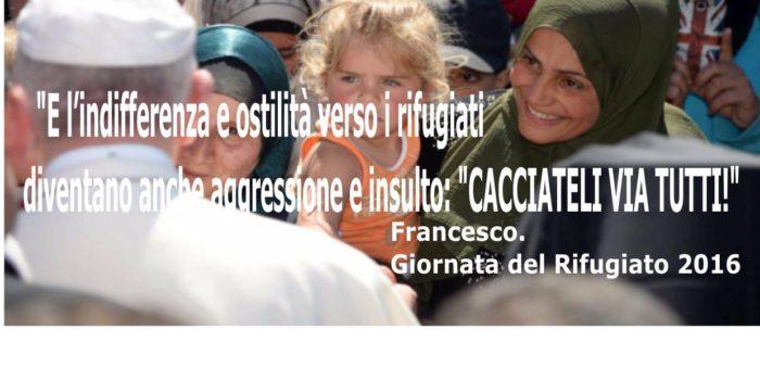"""Papa Francesco: """"Con i rifugiati. Noi stiamo dalla parte di chi è costretto a fuggire"""" – Rai News"""