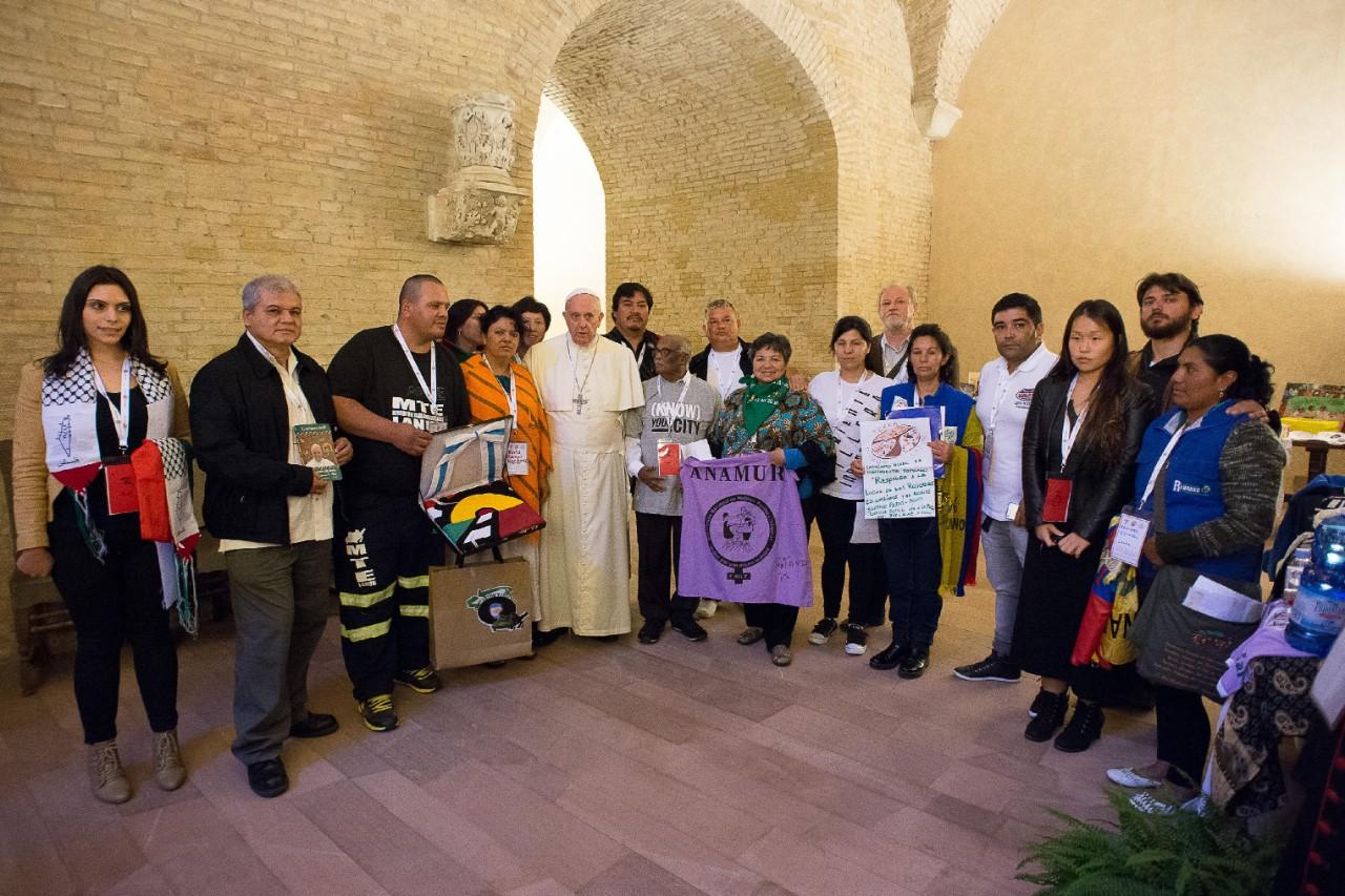 Risultati immagini per Terzo Incontro Mondiale dei Movimenti Popolari roma