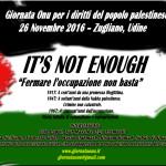 26 Novembre, Udine – Giornata ONU per la Palestina