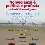 """Organizzazione e Tesi del Prossimo Congresso Nazionale """"Nonviolenza è politica e profezia"""""""