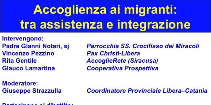 """23 marzo, Catania – Convegno """"Accoglienza ai migranti: tra assistenza e integrazione"""""""