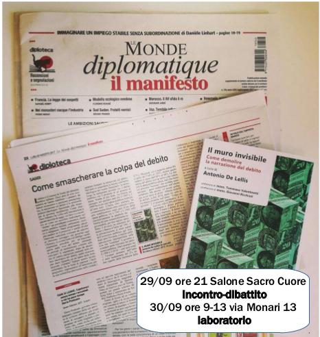29,30 settembre, Reggio Emilia – Il muro invisibile (con Antonio de Lellis)