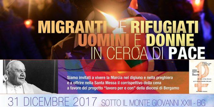 Programma della 50° Marcia per la Pace – Sotto il Monte 31 dicembre 2017
