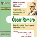 15 marzo, Vicenza – Oscar Romero, Martire della Resistenza Salvadoregna