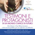 18 e 27 aprile, Taranto – Testimoni e protagonisti di un mondo capace di futuro