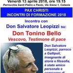 Don Salvatore Leopizzi testimone di don Tonino Bello a Catania
