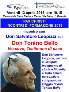 Incontro con don Salvatore Leopizzi su don Tonino Bello