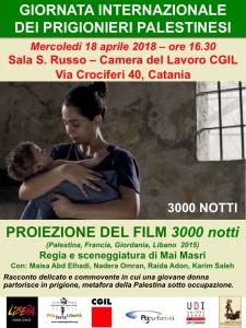 Giornata Internazionale dei Prigionieri Palestinesi Film 3000 Notti