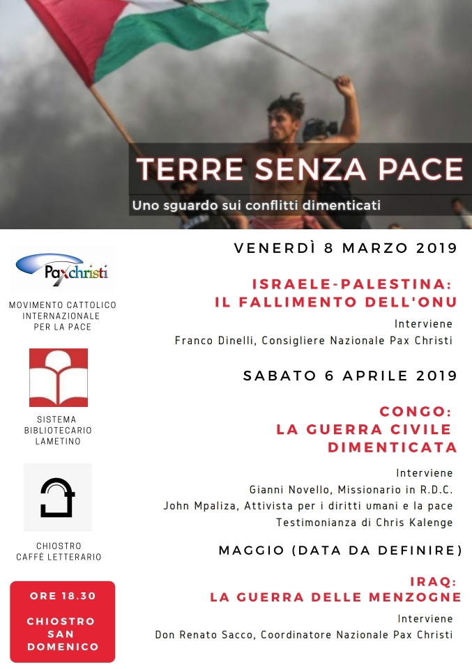 8 marzo, 6 aprile, maggio Lamezia Terme – Terre senza pace