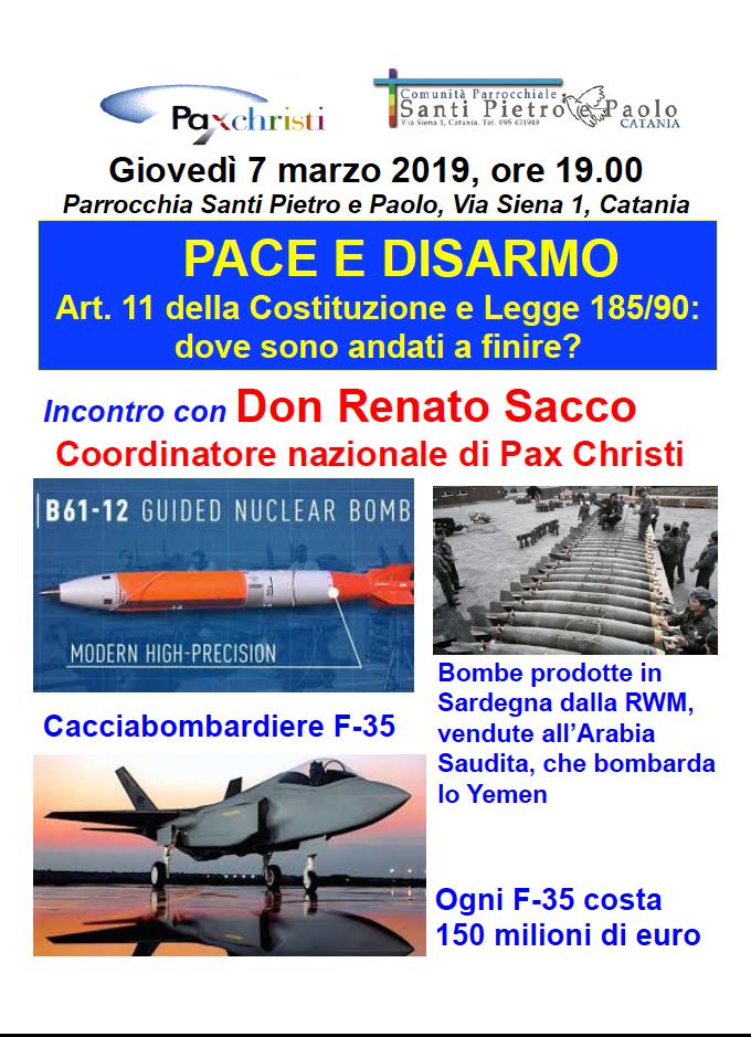 7 marzo, Catania – Incontro con don Renato Sacco