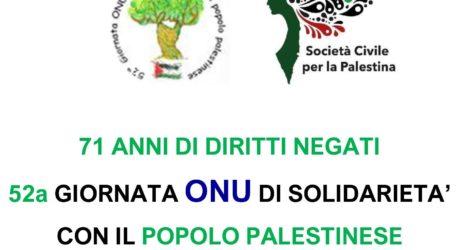 1 dicembre, Milano – Giornata Onu per i diritti del Popolo Palestinese