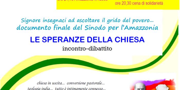 Punto Pace di Reggio Emilia – Le speranze della Chiesa