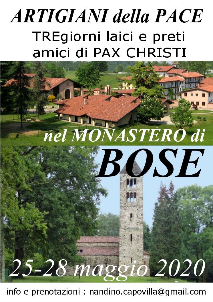 25-28 maggio, Bose – Artigiani della Pace