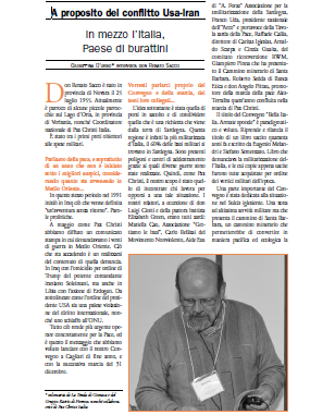 Adista intervista don Renato Sacco – In mezzo l'Italia, paese di burattini