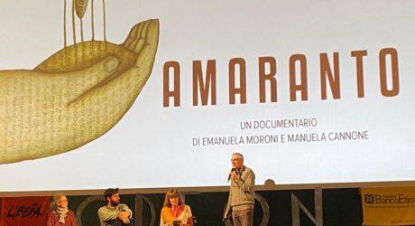 """Il Documentario """"Amaranto"""" a Catania"""