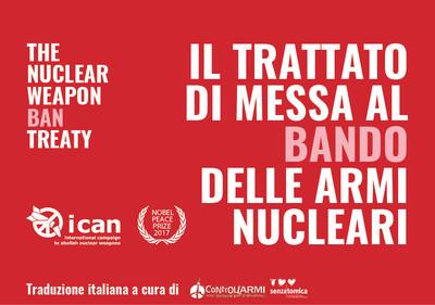 Campagna: L'italia firmi e ratifichi il trattato per il bando delle armi nucleari