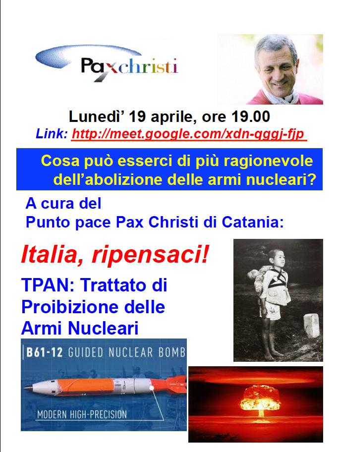 Incontro online sul TPAN con alcune comunità parrocchiali catanesi