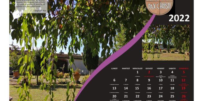 Calendario Pax Christi 2022 dedicato alla Casa per la Pace